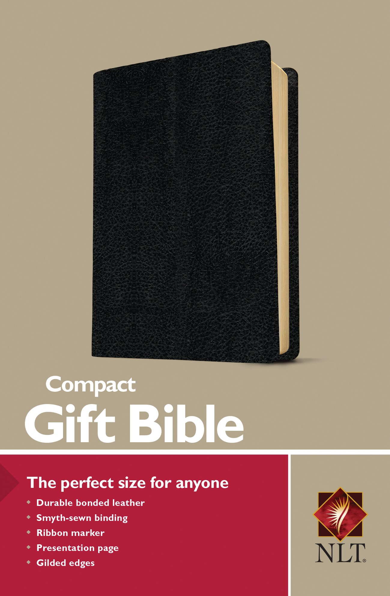 NLT Compact Gift Bible-Black Bonded Leather