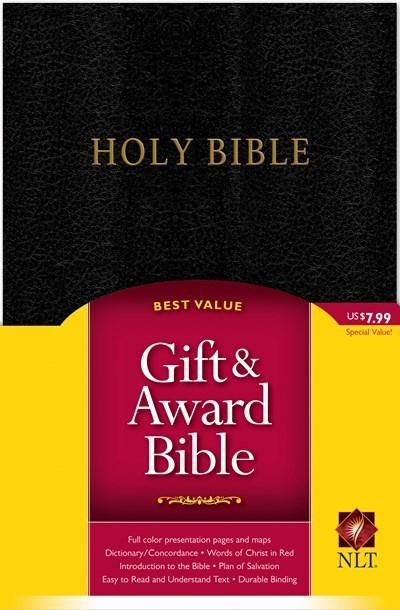 NLT Gift & Award Bible-Black Imitation Leather