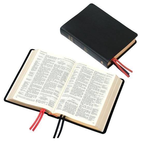KJV Westminster Reference Bible-Black Calfskin Leather (#90/UBK)
