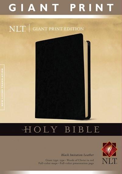 NLT Giant Print Bible-Black Imitation