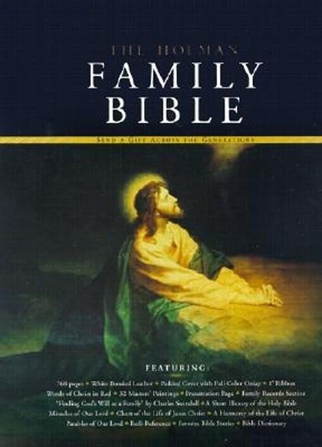 KJV Holman Family Bible-White Bonded Leather