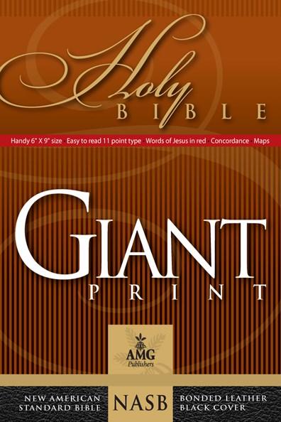 NASB Giant Print Handy-Size Bible-Black Bonded Leather