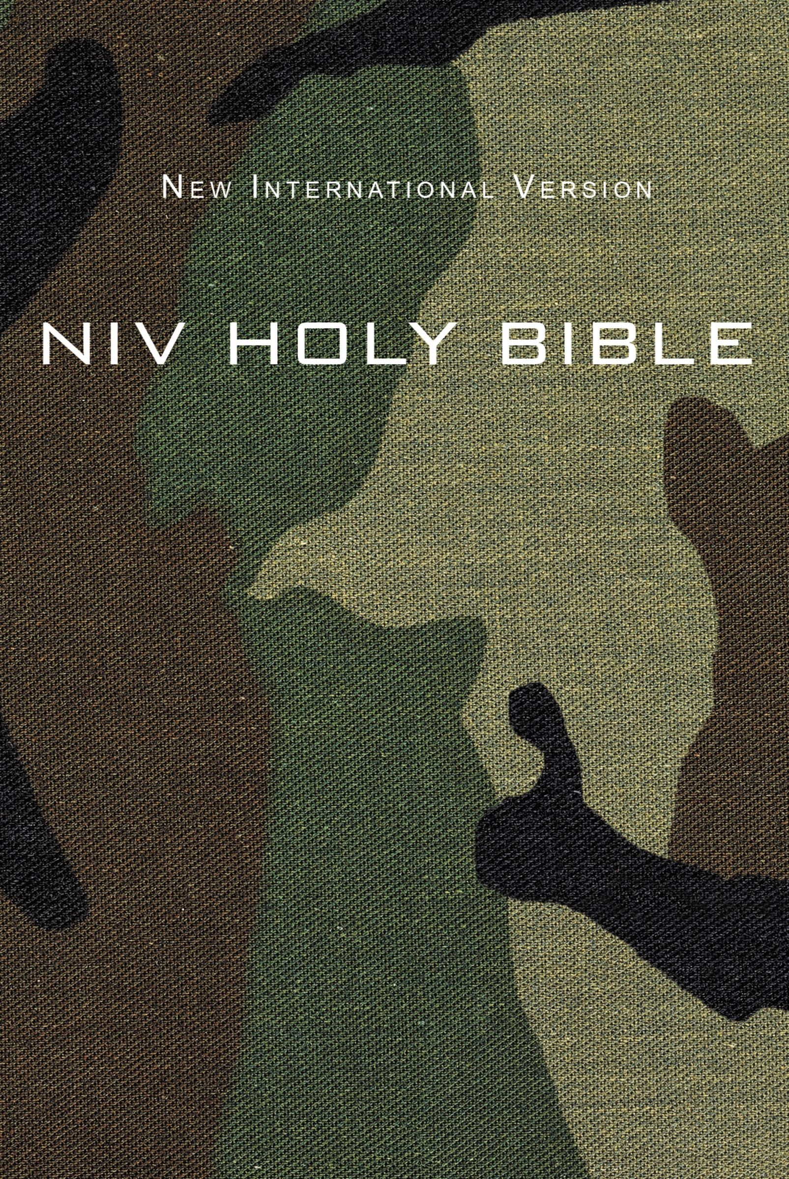 NIV Compact Bible-Green Camouflage Softcover