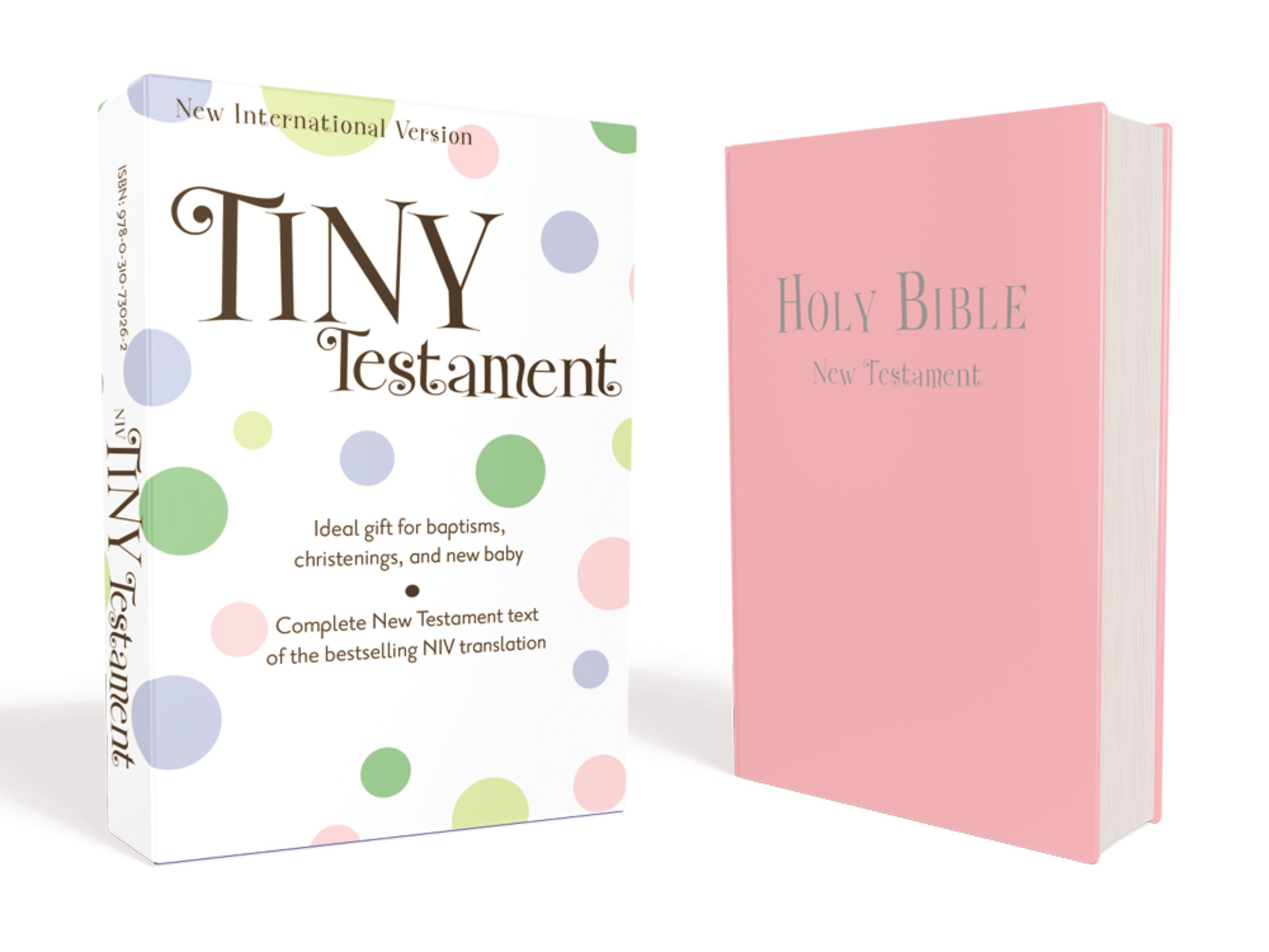 NIV Tiny New Testament-Pink Leather-Look