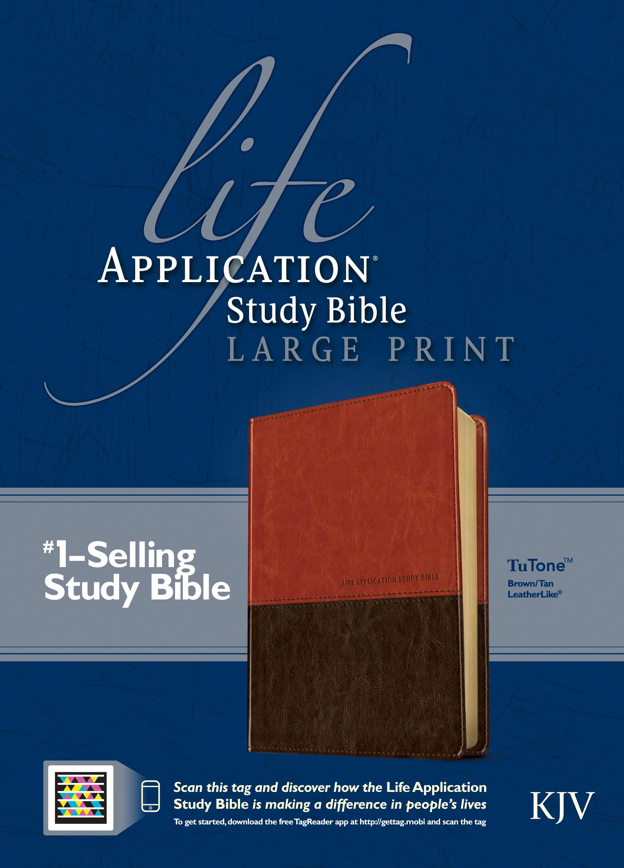 KJV Life Application Study Bible/Large Print-Brown/Tan TuTone Indexed