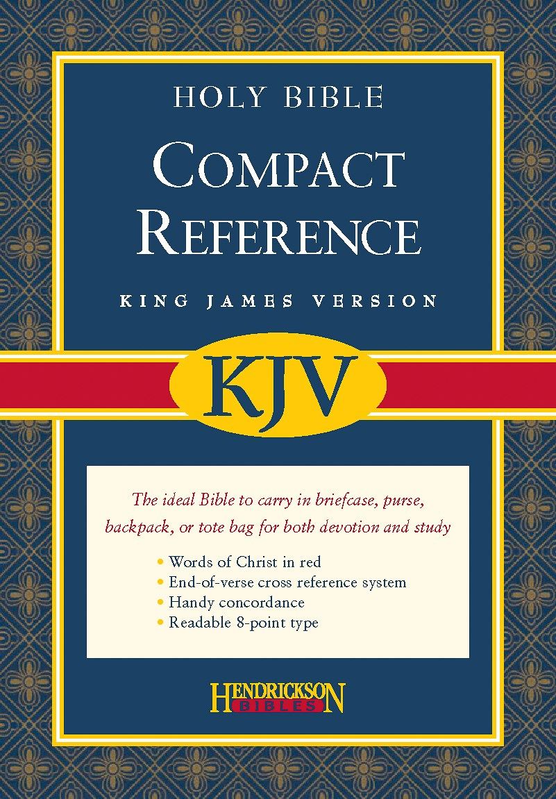 KJV Large Print Compact Reference Bible-Black Bonded Leather w/Magnetic Flap