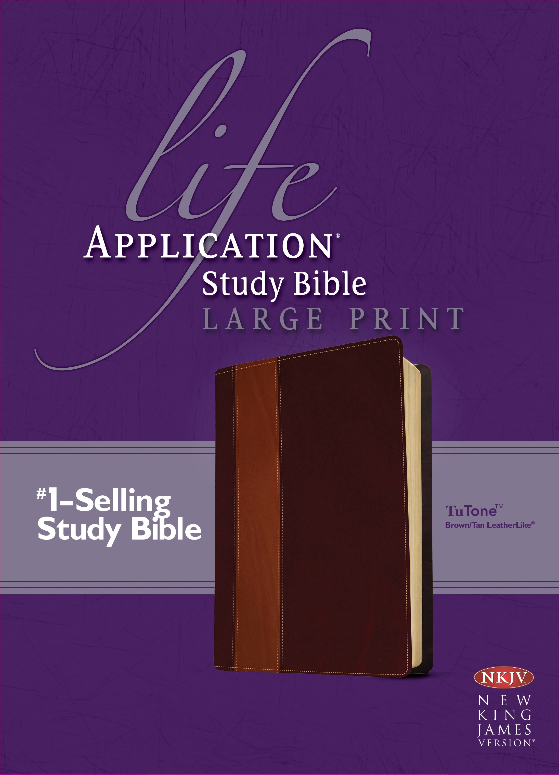 NKJV Life Application Study Bible/Large Print-Brown/Tan TuTone