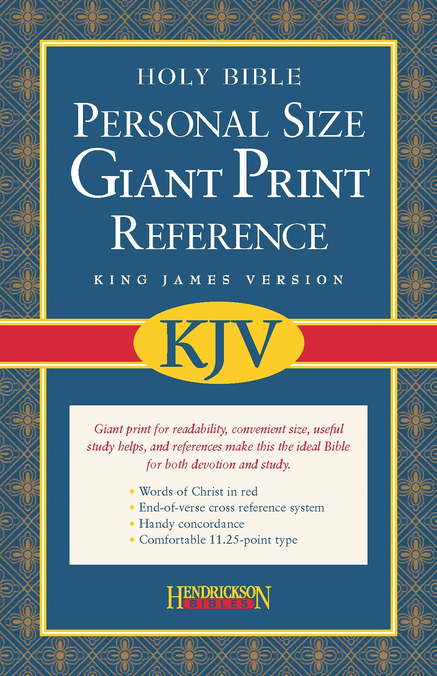 KJV Personal Size Giant Print Reference Bible-Black Imitation Leather