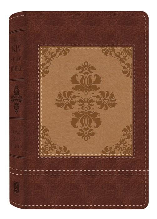 KJV Study Bible-Heritage Edition-Brown/Cream DiCarta