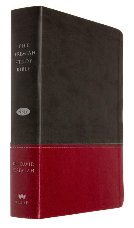 NKJV Jeremiah Study Bible-Charcoal/Burgundy Leatherluxe