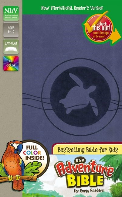 NIrV Adventure Bible For Early Readers (Full Color)-Blueberry DuoTone