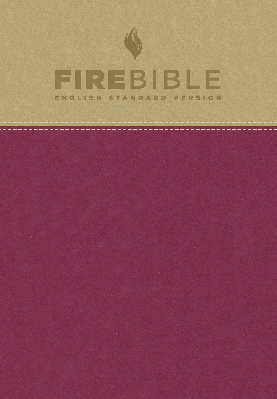 ESV Fire Bible-Tan/Berry Flexisoft