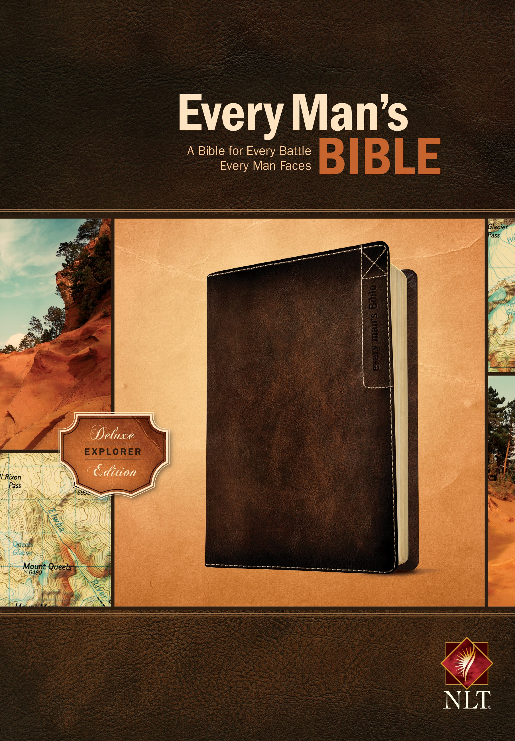 NLT Every Man's Bible: Deluxe Explorer Edition-Rustic Brown LeatherLike