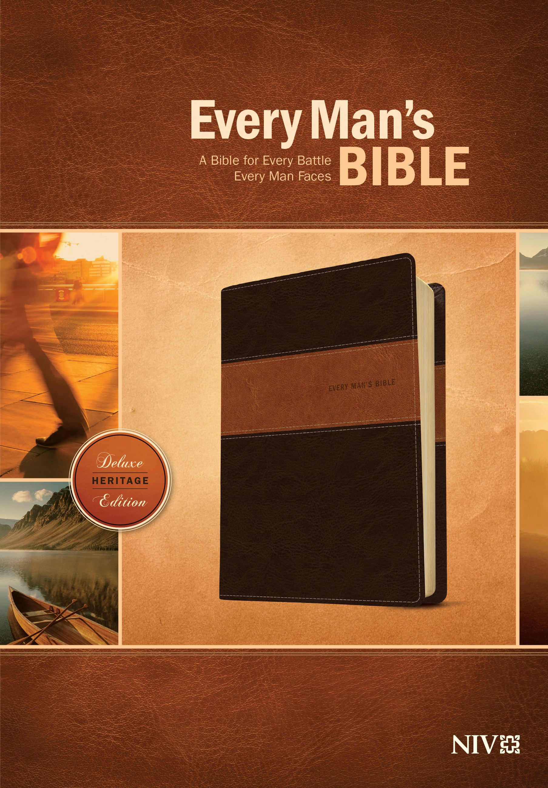 NIV Every Man's Bible-Deluxe Heritage Edition-Brown/Tan TuTone
