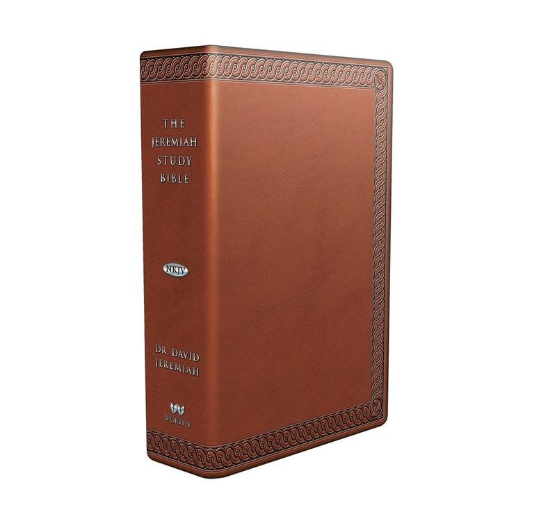 NKJV Jeremiah Study Bible-Brown Leatherluxe W/Burnished Edges