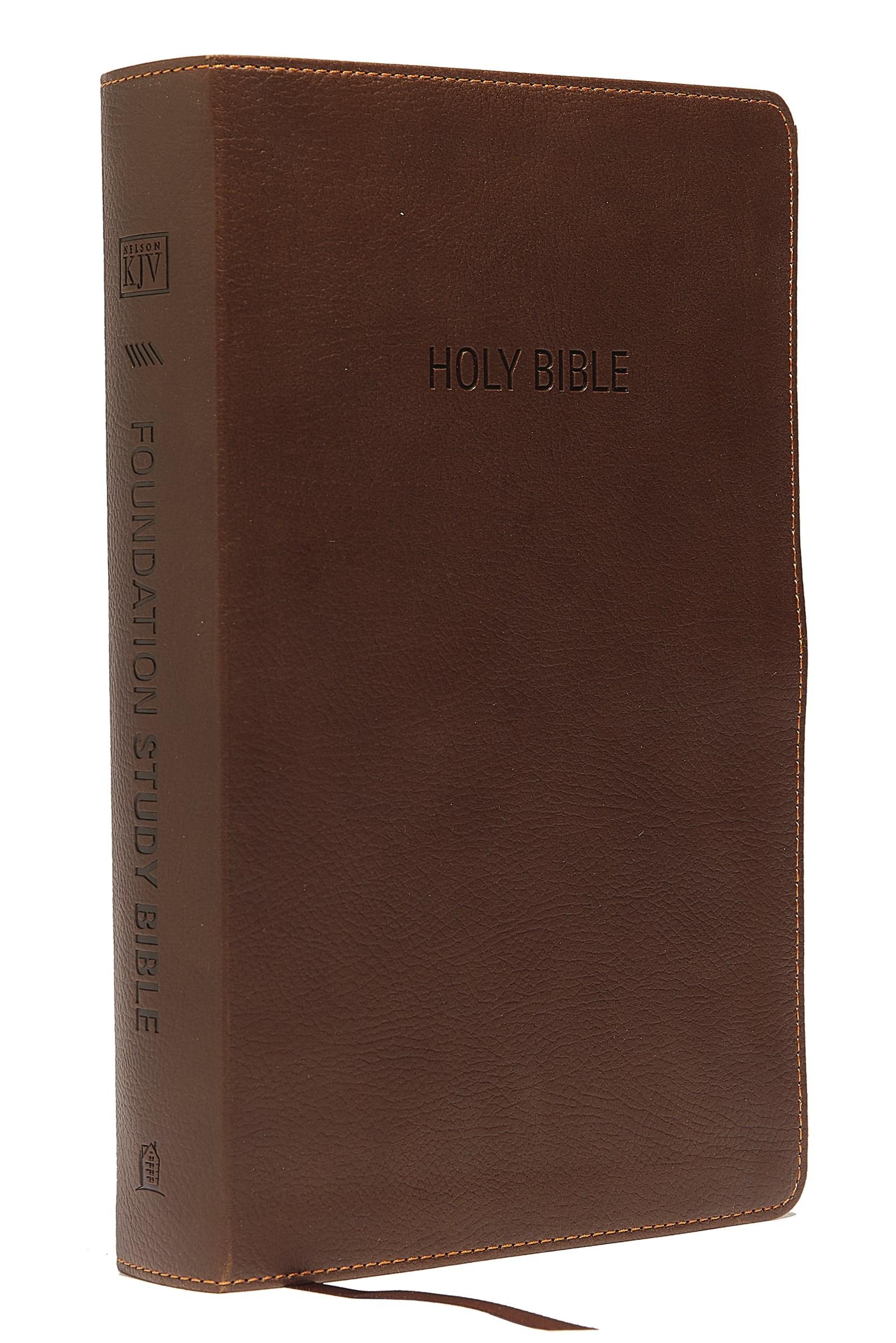 KJV Foundation Study Bible-Earth Brown LeatherSoft