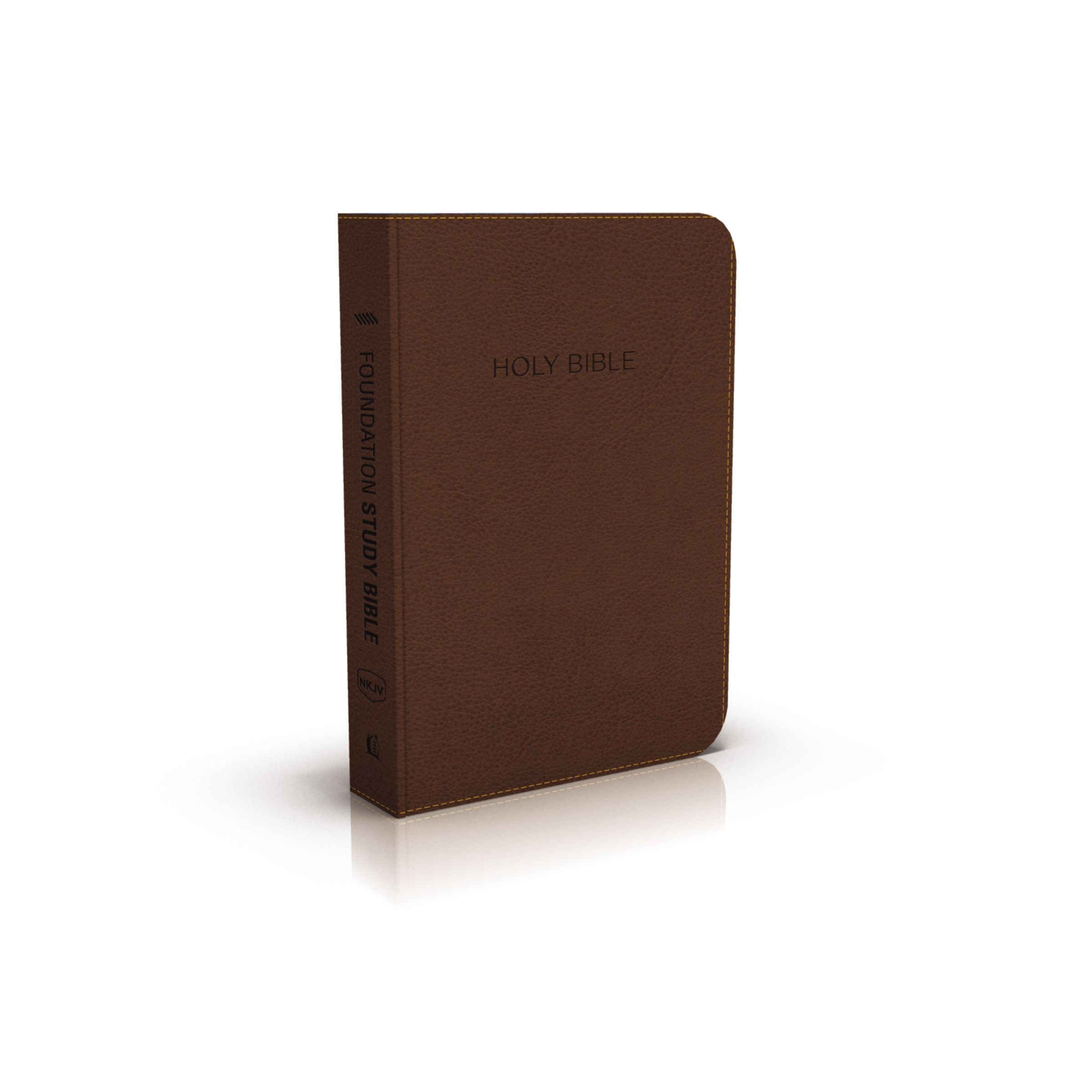 NKJV Foundation Study Bible-Earth Brown LeatherSoft