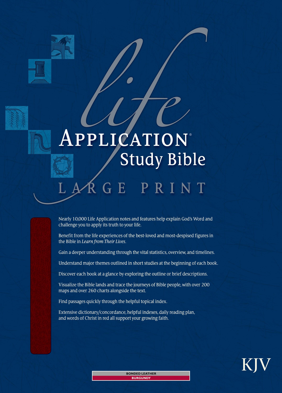KJV Life Application Study Bible/Large Print-Burgundy Bonded Leather Indexed