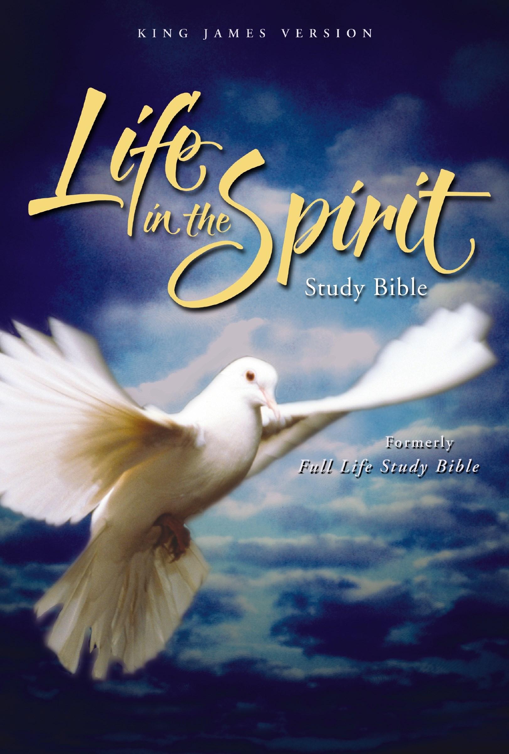 KJV Life In The Spirit Study Bible-Black Genuine