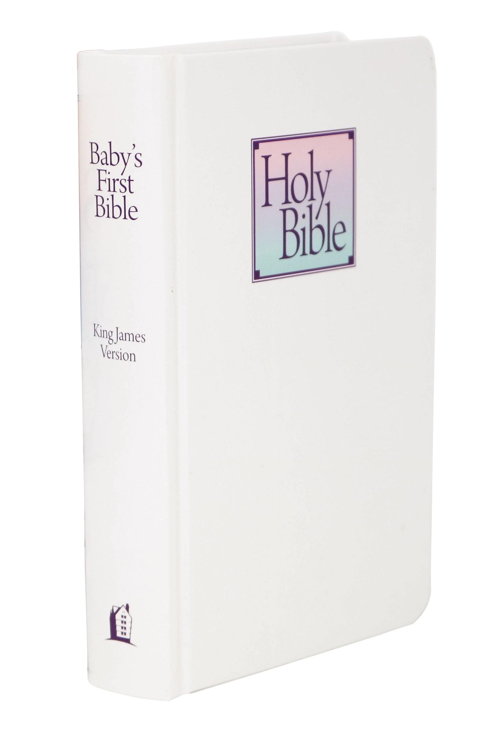 KJV Baby's First Bible-White Hardcover