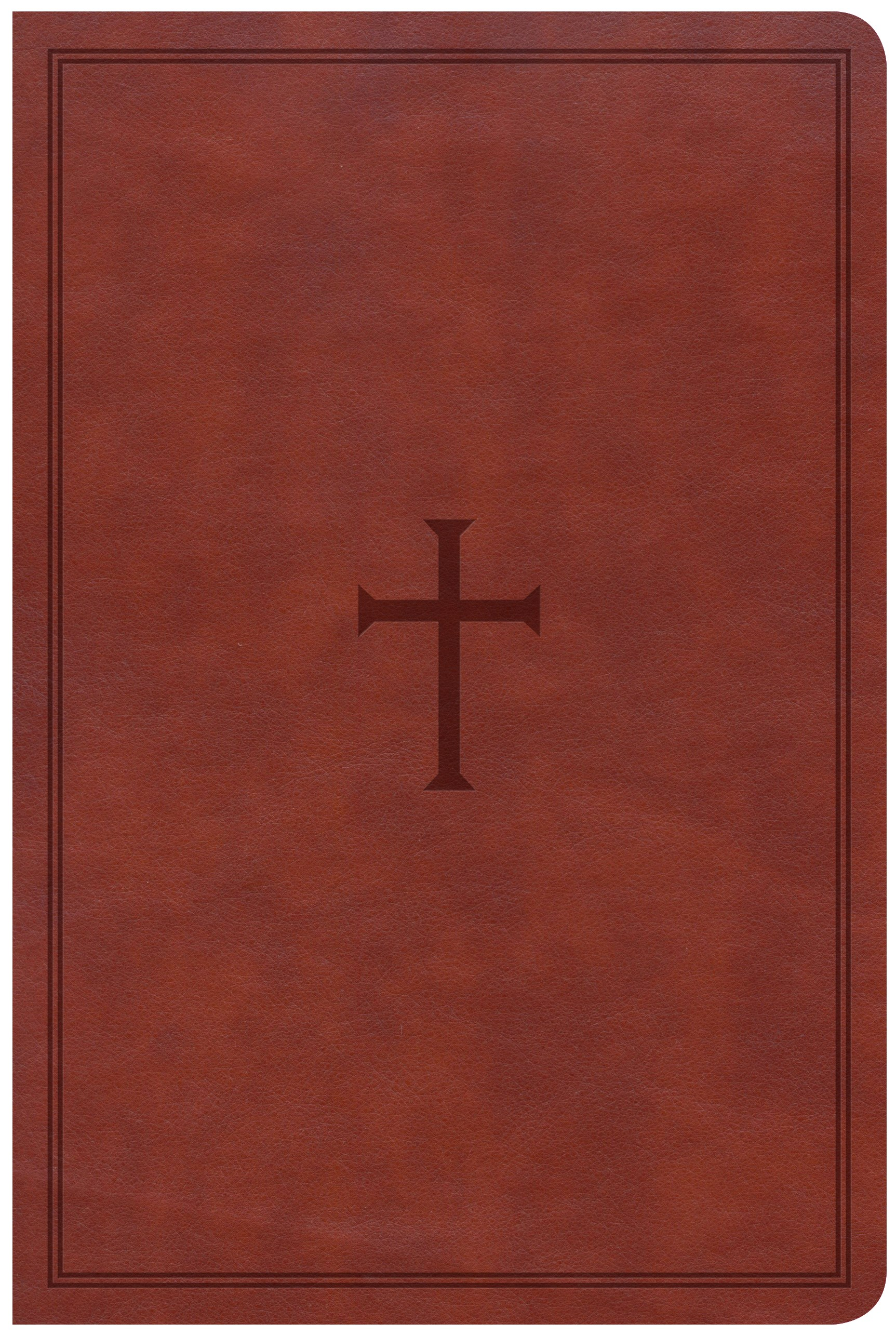 CSB Large Print Personal Size Reference Bible-Brown LeatherTouch