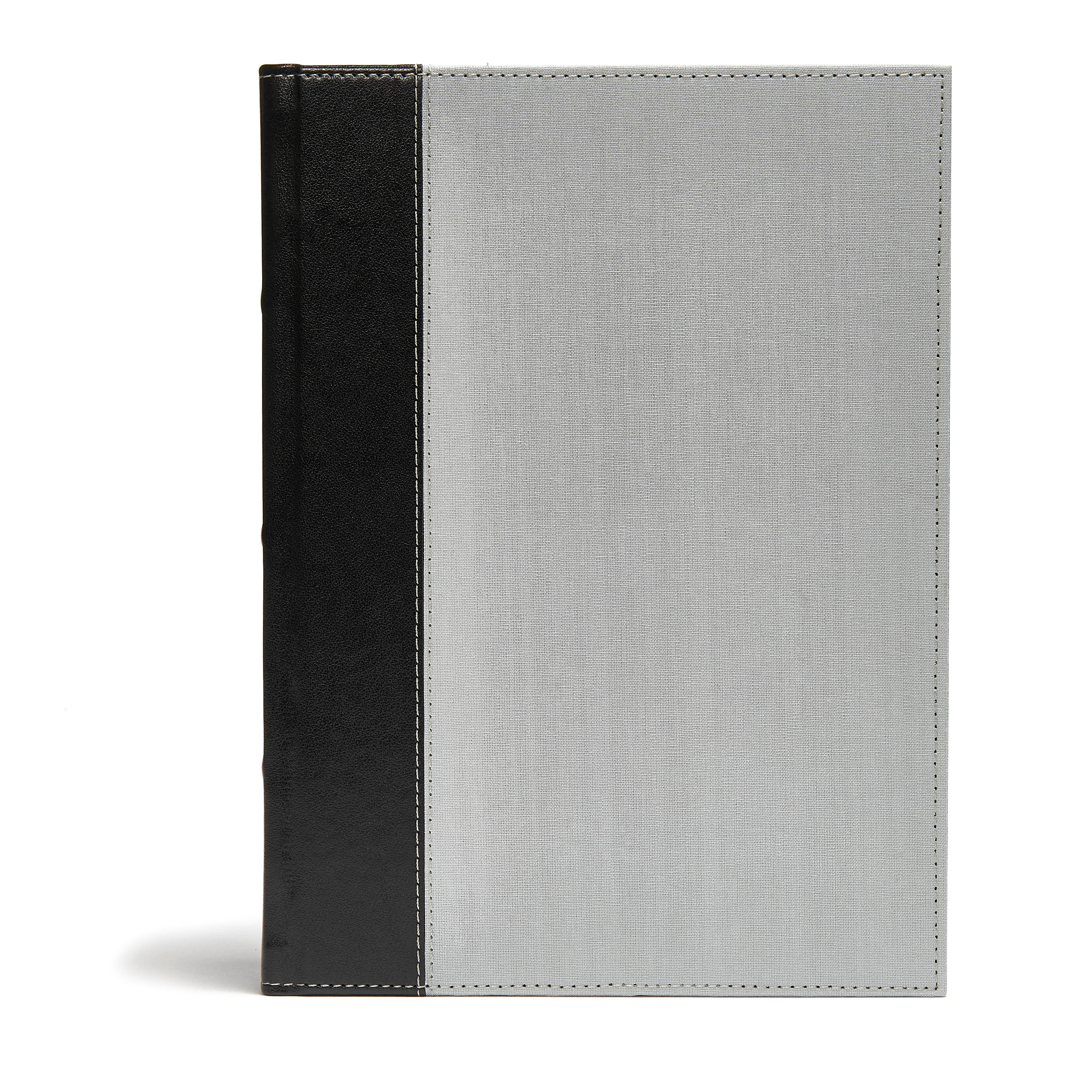 CSB Study Bible-Gray/Black Cloth Over Board