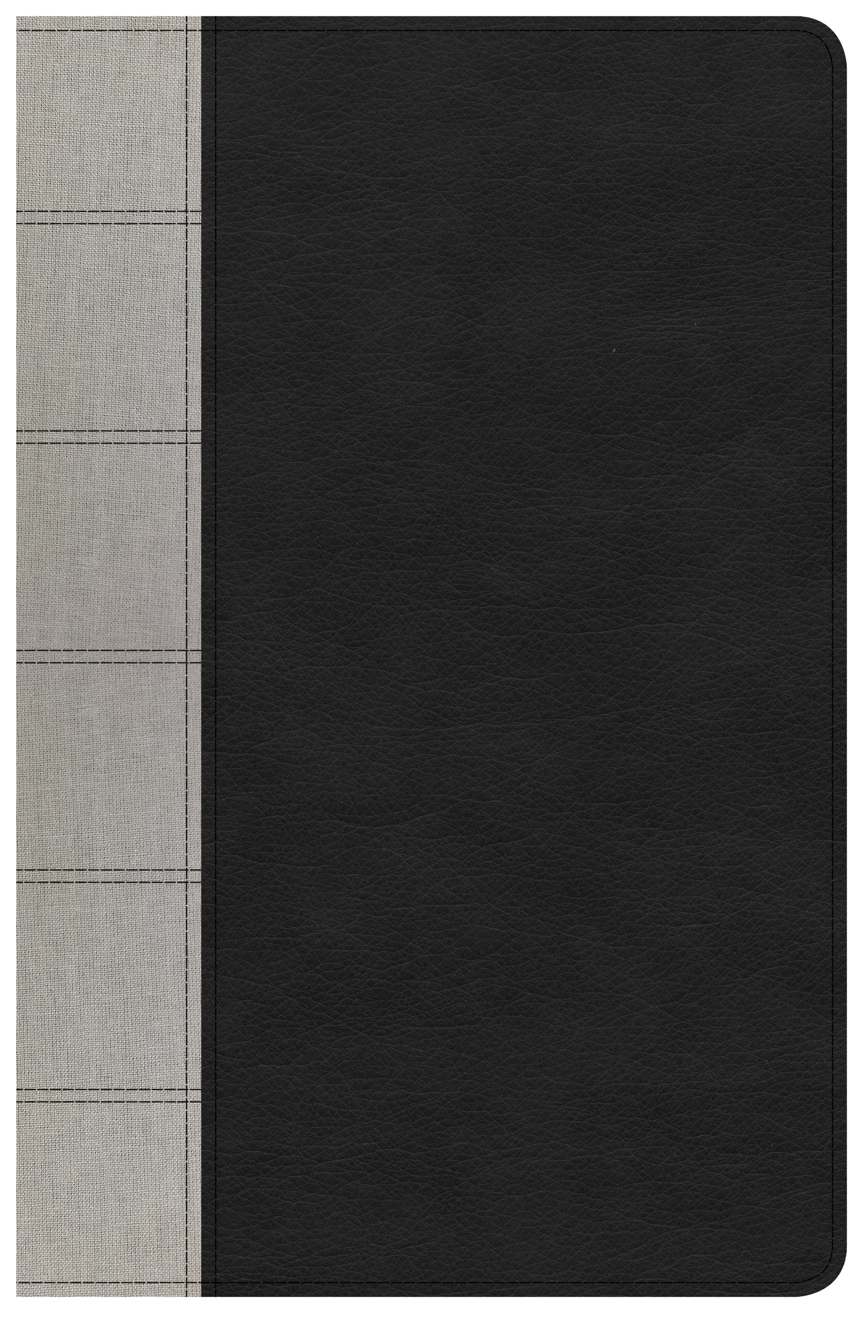 KJV Large Print Personal Size Reference Bible-Black/Gray Deluxe LeatherTouch