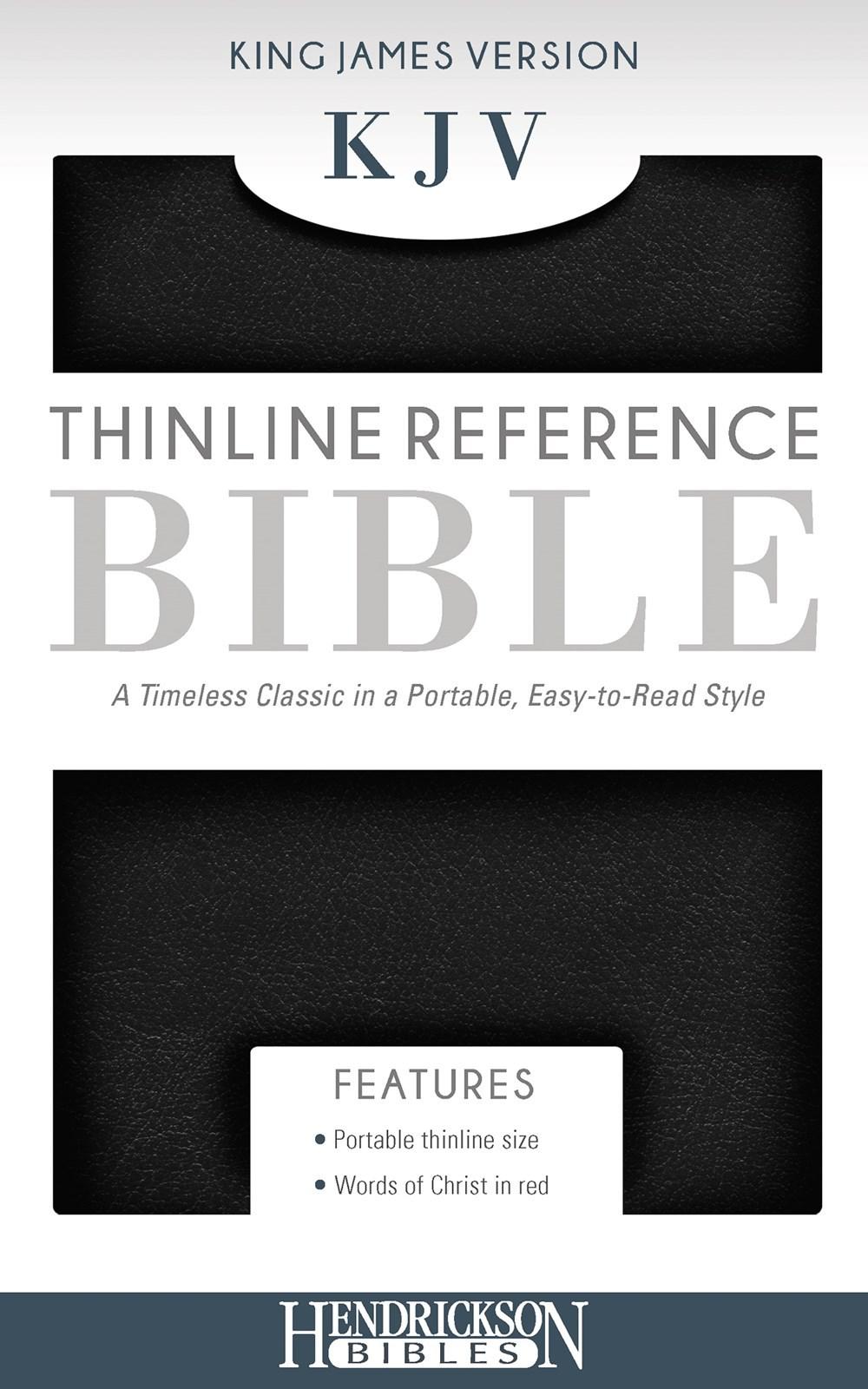 KJV Thinline Reference Bible-Black Imitation Leather