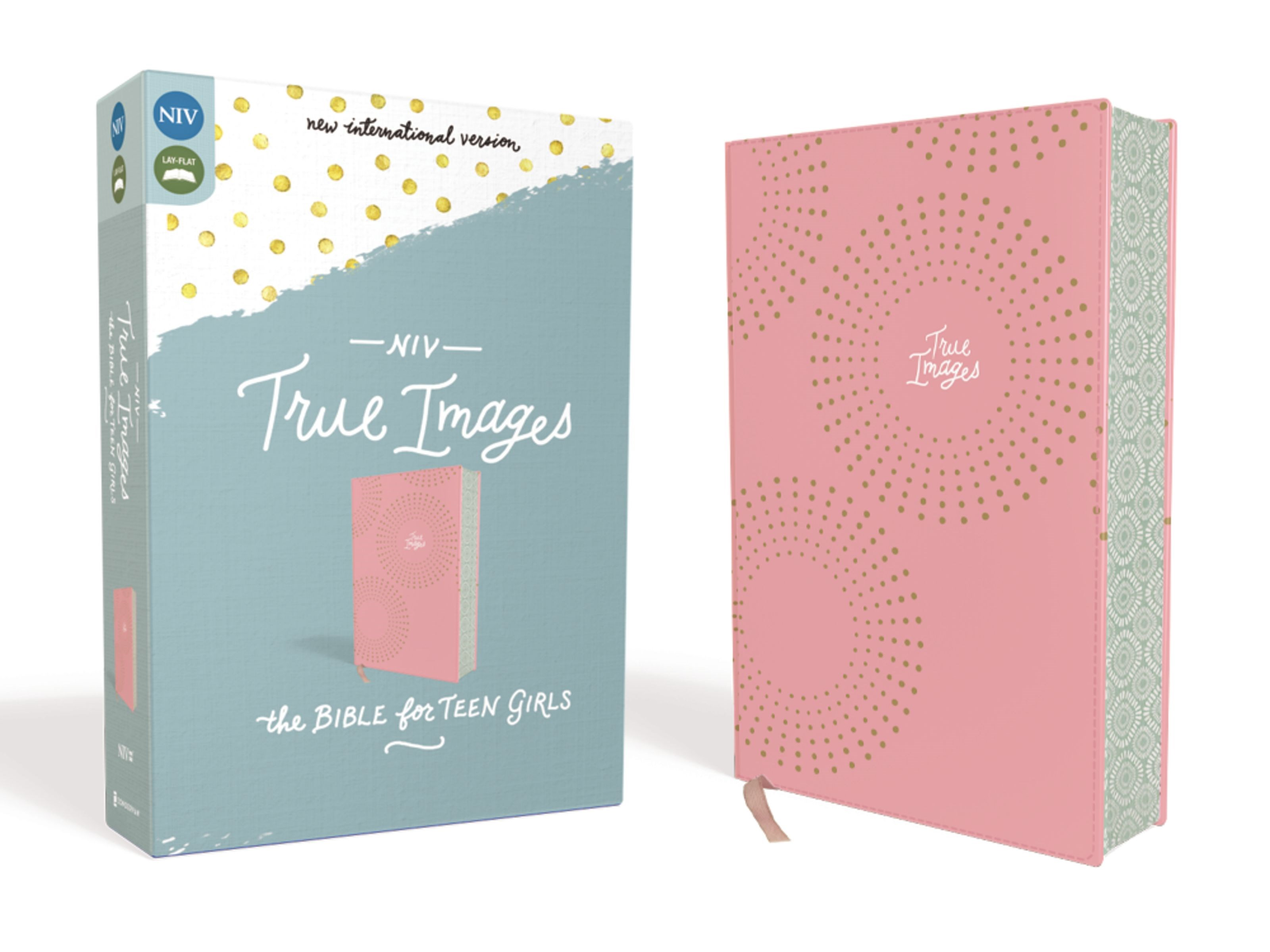 NIV True Images Bible For Teen Girls-Pink Leathersoft