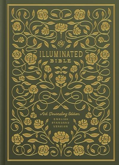 ESV Illuminated Bible-Art Journaling Edition-Green Hardcover