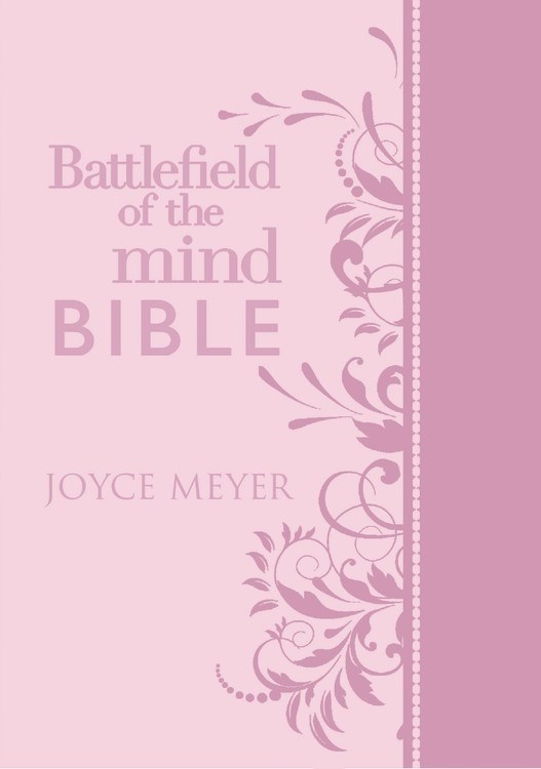 Amplified Battlefield Of The Mind Bible-Pink Euroluxe