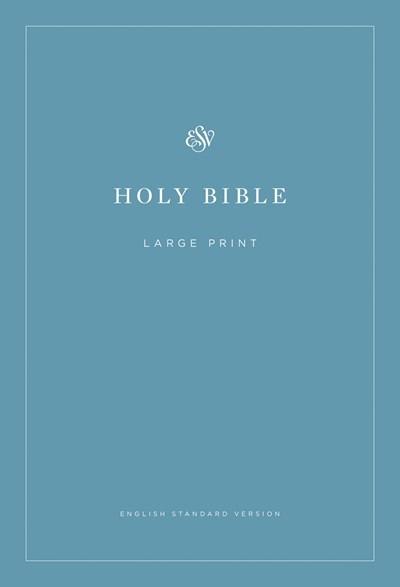 ESV Economy Bible/Large Print-Blue Softcover