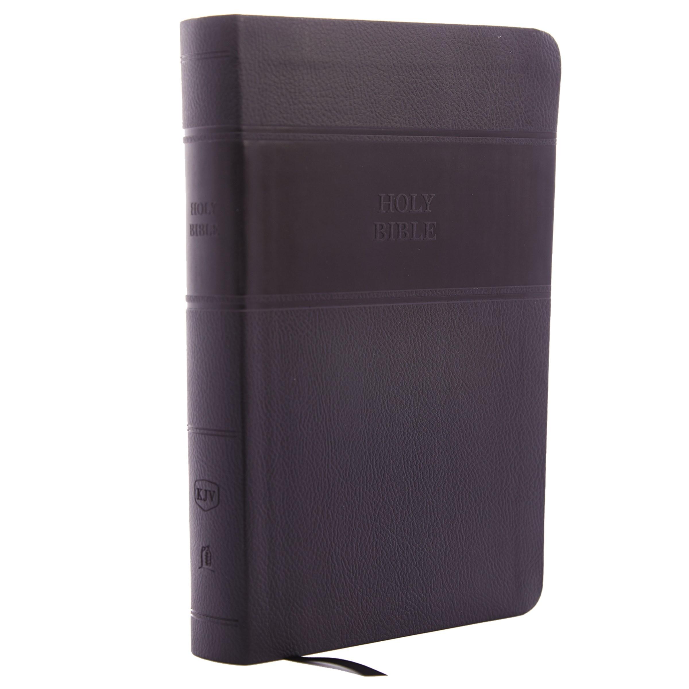 KJV Personal Size Giant Print Reference Bible (Comfort Print)-Black Leathersoft