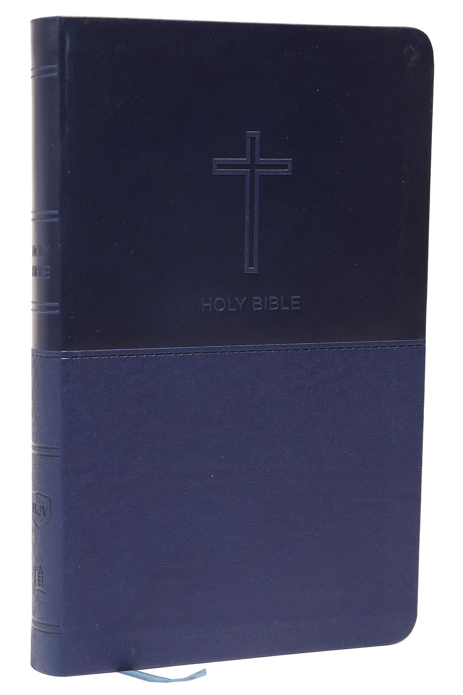 NKJV Thinline Bible (Comfort Print)-Navy Leathersoft