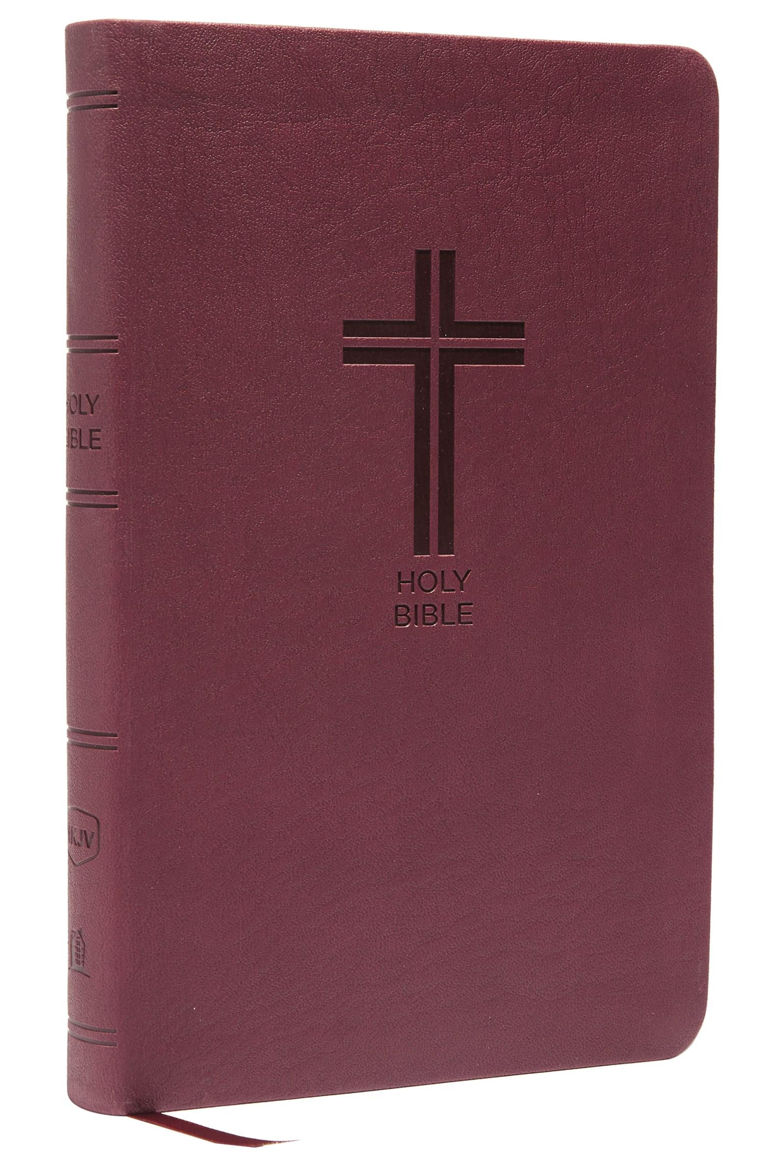 NKJV Thinline Bible (Comfort Print)-Burgundy Leathersoft