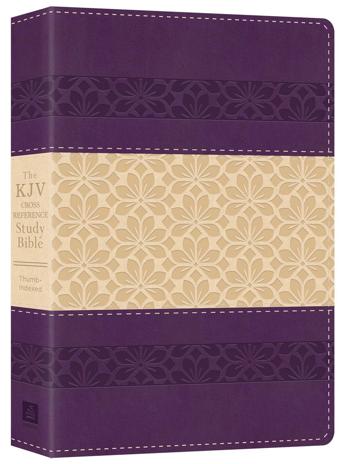 KJV Cross Reference Study Bible-Purple/Rose DiCarta Indexed