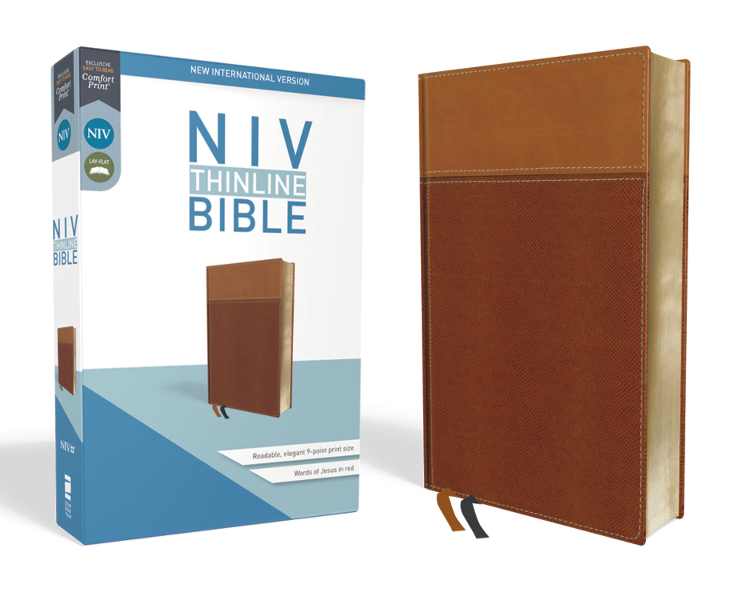 NIV Thinline Bible (Comfort Print)-Tan Leathersoft