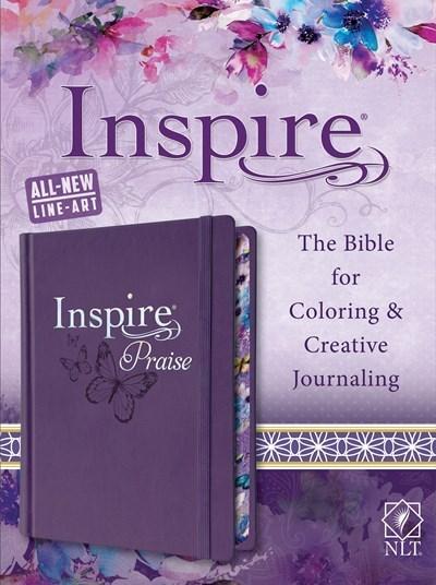 NLT Inspire Praise Bible-Purple Hardcover