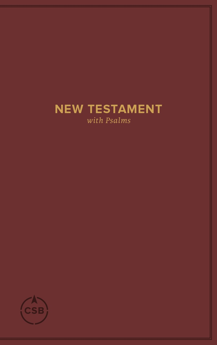 CSB Pocket New Testament With Psalms-Burgundy Softcover