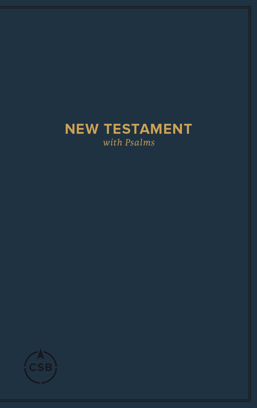 CSB Pocket New Testament With Psalms-Navy Softcover
