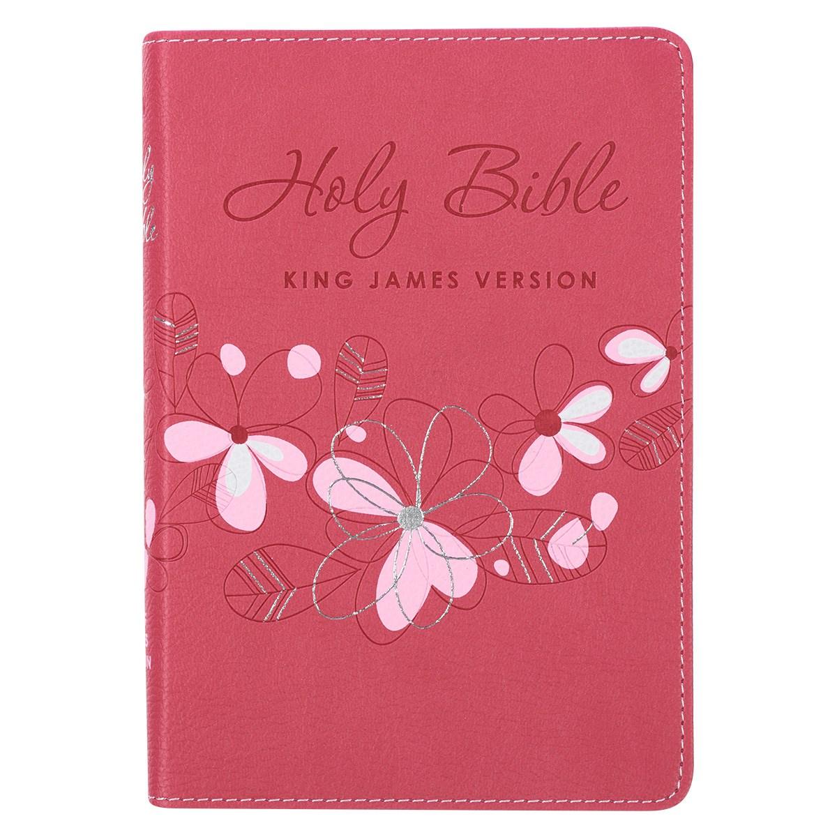 KJV Compact Bible-Pink LuxLeather
