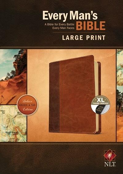 NLT Every Man's Bible/Large Print-Brown/Tan TuTone Indexed