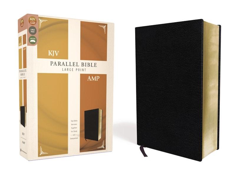 KJV/Amplified Parallel Bible/Large Print-Black Bonded Leather