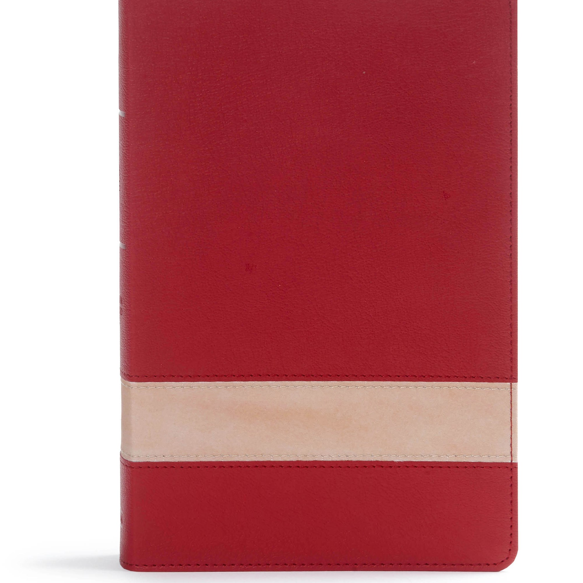 CSB Large Print Personal Size Reference Bible-Crimson/Tan LeatherTouch