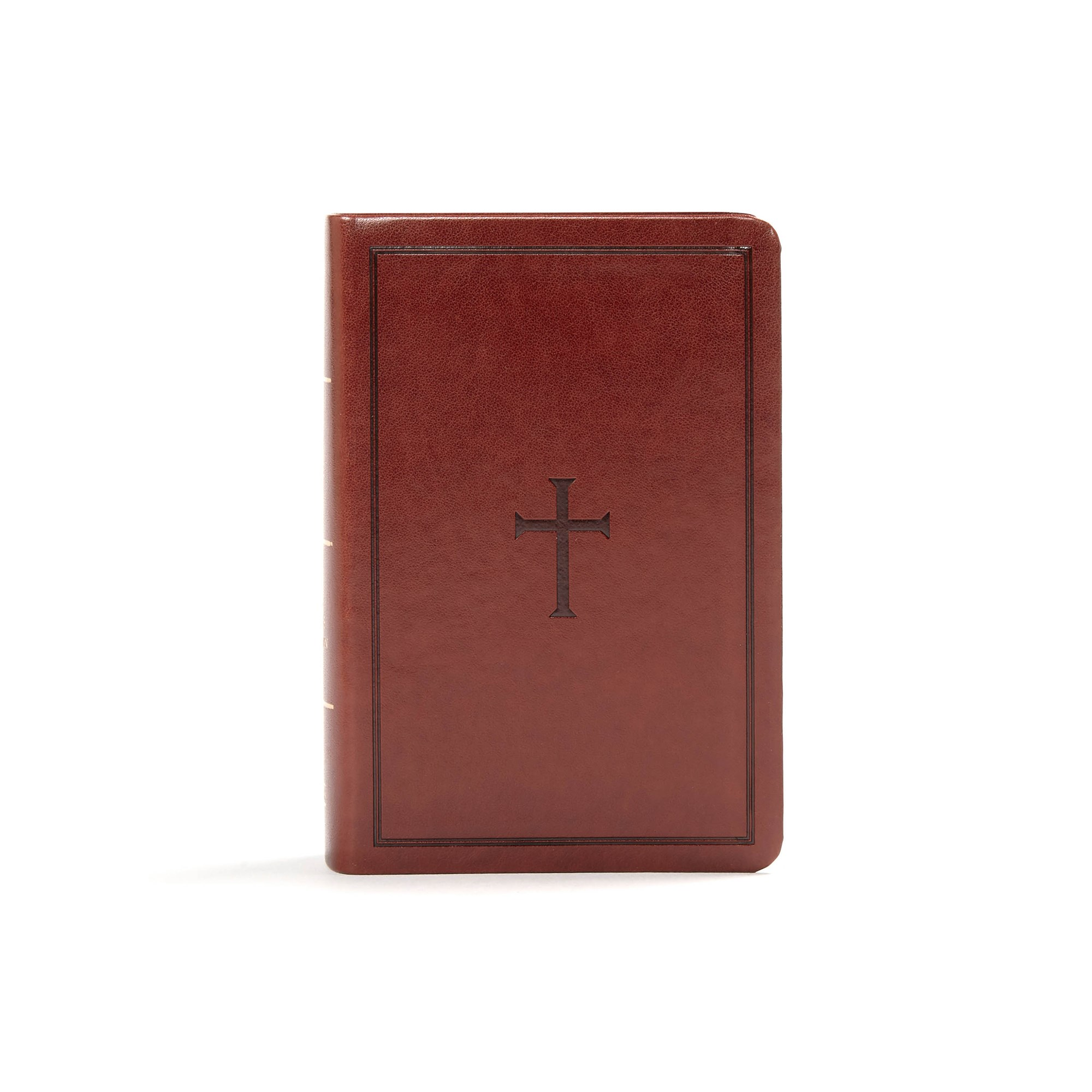 KJV Large Print Compact Reference Bible-Brown LeatherTouch