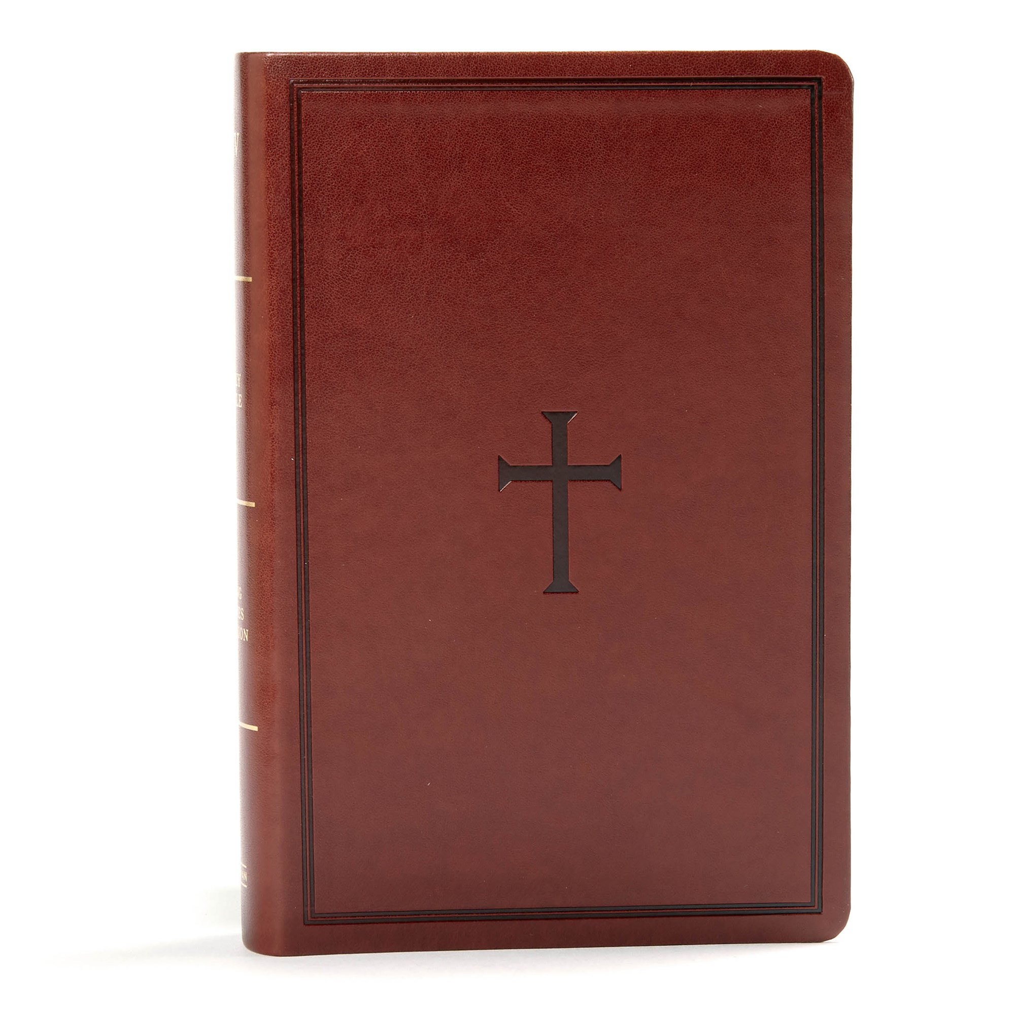 KJV Large Print Personal Size Reference Bible-Brown LeatherTouch Indexed