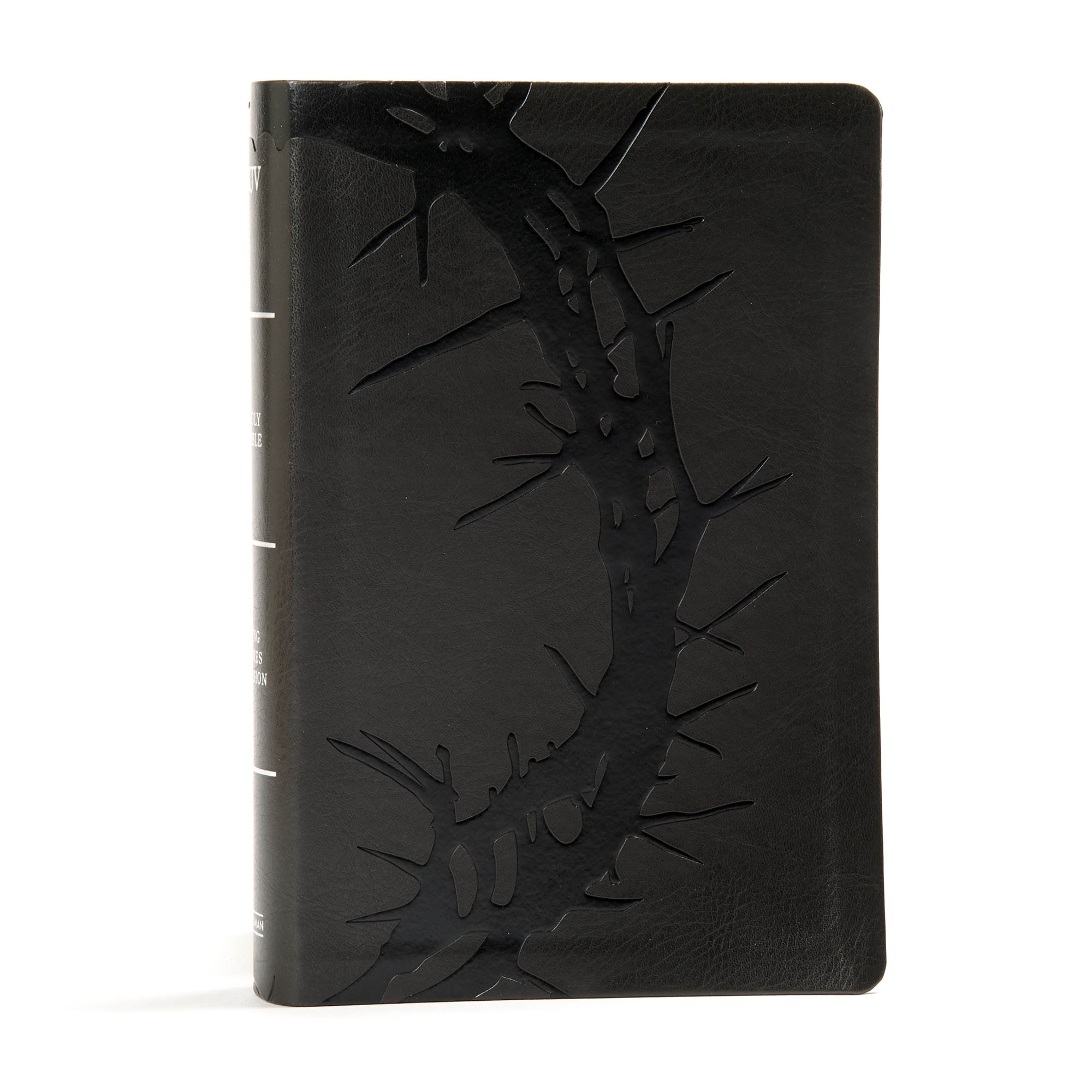 KJV Large Print Personal Size Reference Bible-Charcoal LeatherTouch Indexed