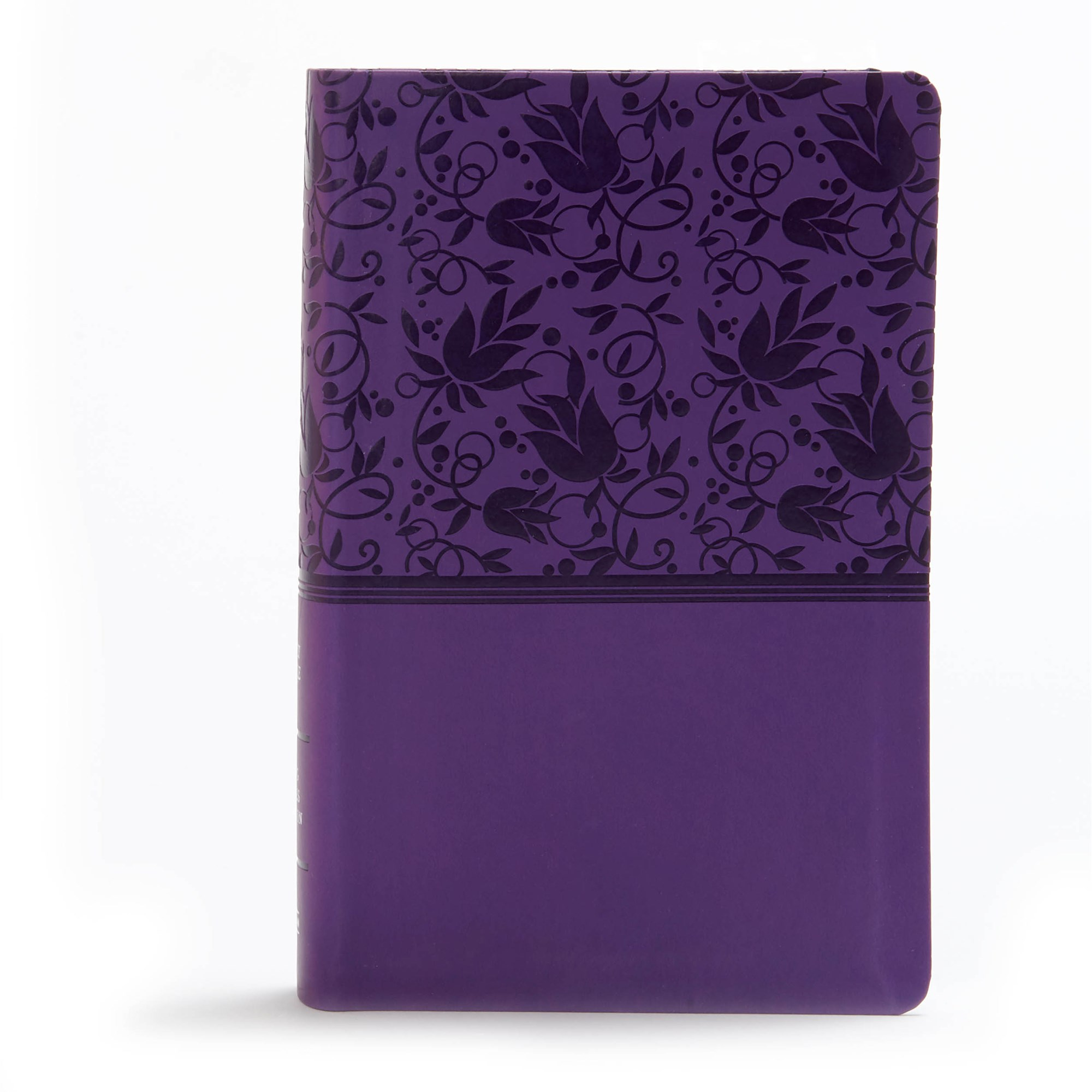 KJV Large Print Personal Size Reference Bible-Purple LeatherTouch