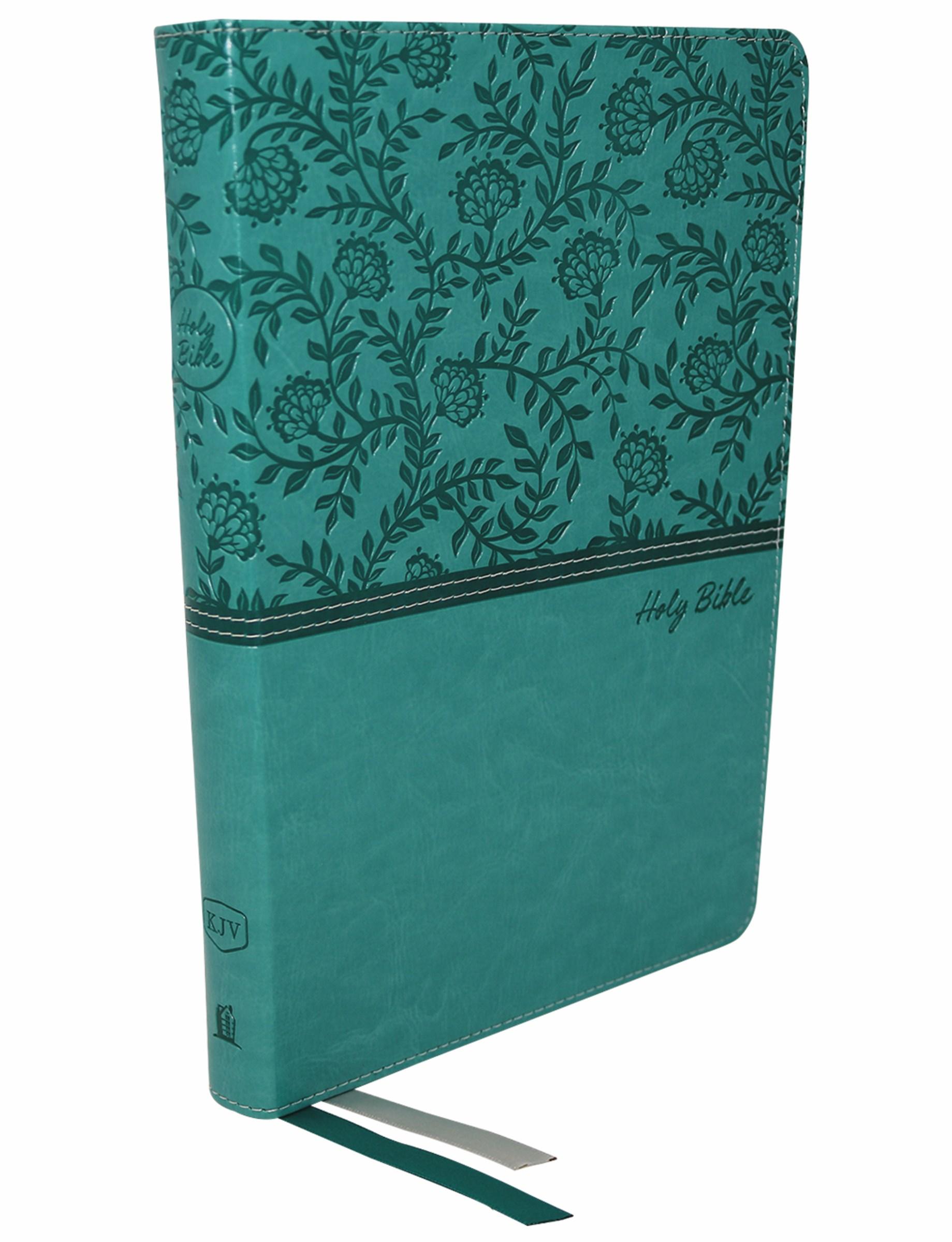 KJV Thinline Bible/Large Print (Comfort Print)-Turquoise Leathersoft