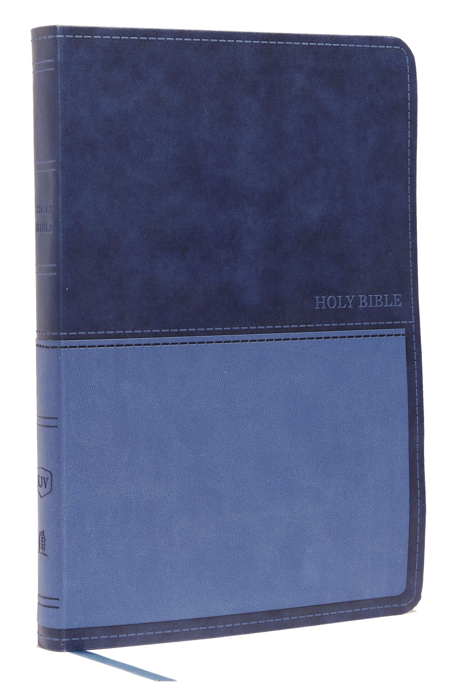 KJV Value Thinline Bible/Large Print (Comfort Print)-Blue Leathersoft